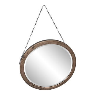 Uttermost Round Hanging Mirror With Chain
