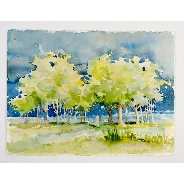 Plein Air Watercolor Landscape Painting For Sale - Image 4 of 4