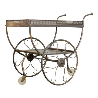 Josef Frank Brass Svenskt Tenn Tea Cart For Sale