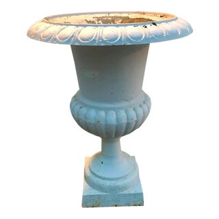 Gray Cast Iron Urn For Sale