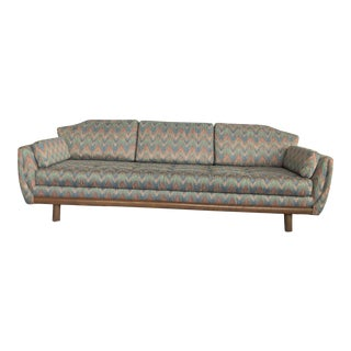 1960s Mid-Century Modern Danish Walnut Sofa For Sale