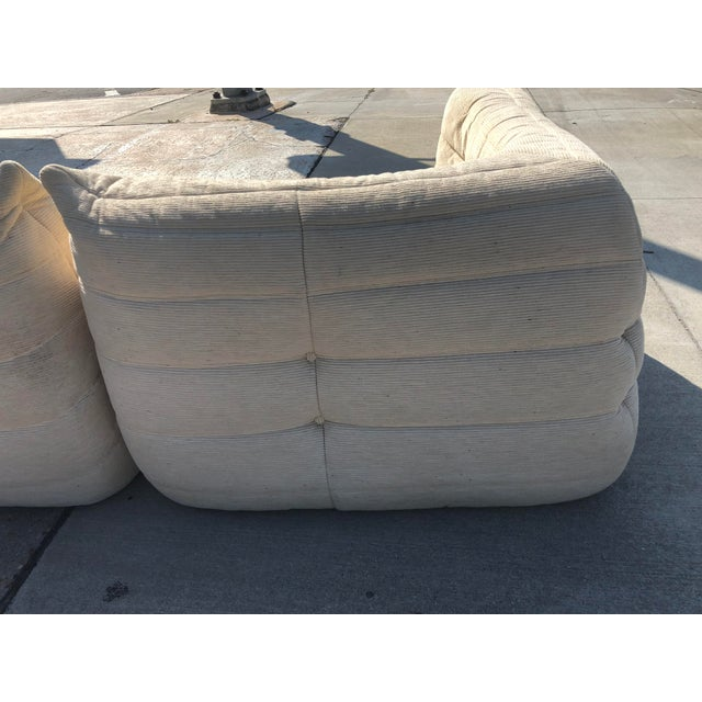 1970s Mid-Century Modern Ligne Roset Togo French Sectional Sofas - 2 Pieces For Sale - Image 6 of 13