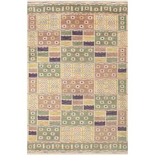 Vintage Scandinavian Pile Carpet by Marta Maas-Fjetterström - 6′8″ × 10′ For Sale