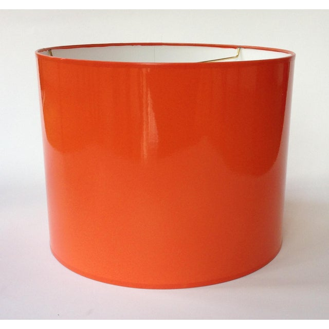 High Gloss Drum Lamp Shade Made To Order: 1-2 week lead time Individually hand-made Exterior Color: Orange (Pantone 1655)...