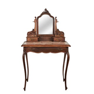 19th Century Louis XV Style Marble Top Vanity For Sale