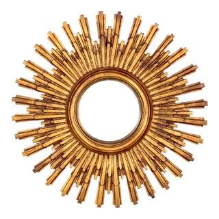 Mid Century Resin Frame Concave Sunburst Mirror