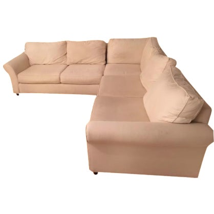 Pottery Barn L-Shape Upholstered Sectional - Image 1 of 5