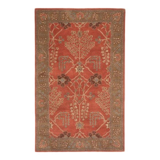 Jaipur Living Chambery Handmade Floral Orange Brown Square Area Rug 8'X8' For Sale