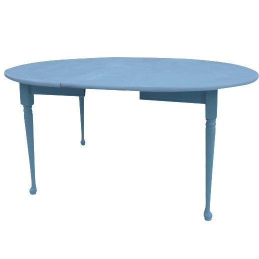 Heywood-Wakefield Two-Tone Blue & White Table For Sale