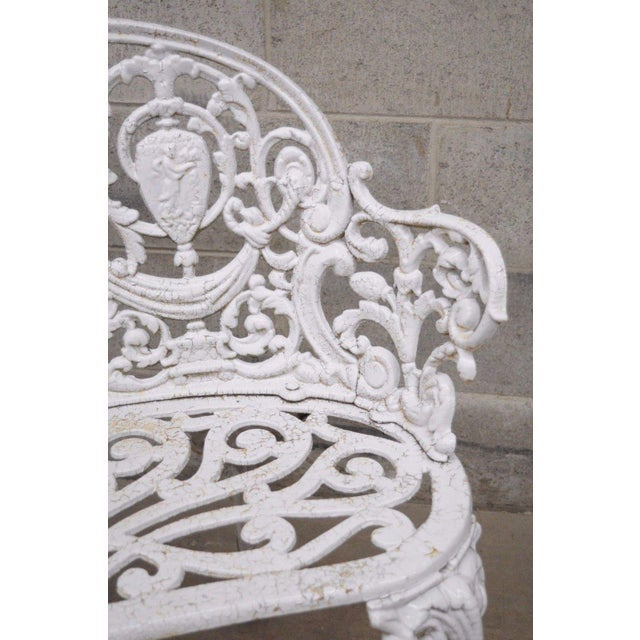 Antique Cast Iron Victorian Garden Bench - Image 10 of 11