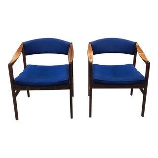 Vintage Mid Century Dux Scandinavian Modern Armchairs - A Pair For Sale