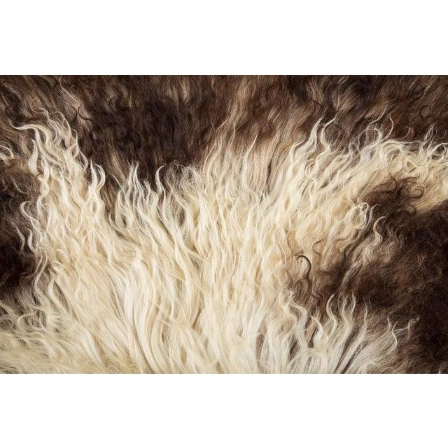 "Contemporary Natural Sheepskin Pelt - 2'0""x3'0"" For Sale - Image 4 of 8"