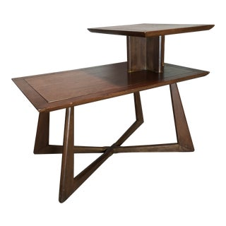 Mid-Century Modern Philcraft Two Tier End Table For Sale