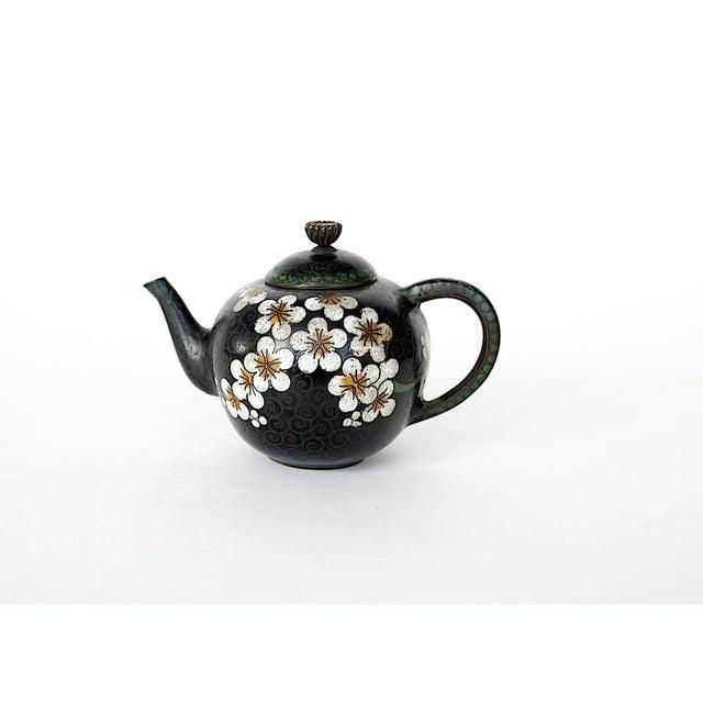 Antique Miniature Japanese Cloisonne Teapot For Sale - Image 13 of 13
