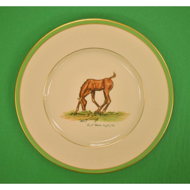 1950s 1950's Vintage Cyril Gorainoff Abercrombie & Fitch Plates - Set of 3 For Sale - Image 5 of 12
