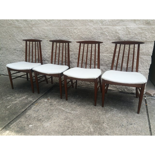 Mid-Century Oak Dining Chairs - Set of 4 - Image 7 of 7