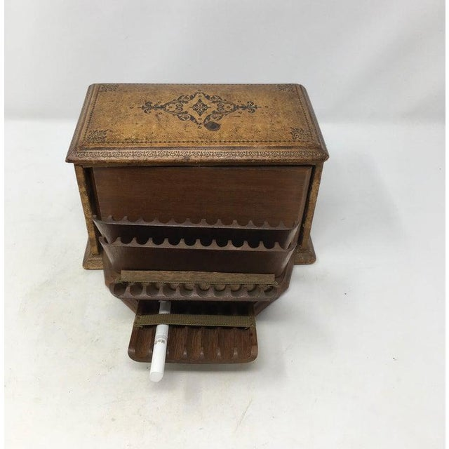 Mid 20th Century Vintage French Book Style Cigarette Box Desk Organizer For Sale - Image 5 of 12