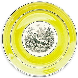 Vintage German Mottahedah Wild Bird Plate For Sale