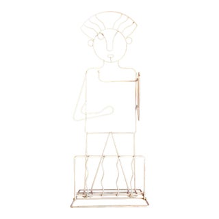 Memphis Style Human Form Sculptural Wire Stand