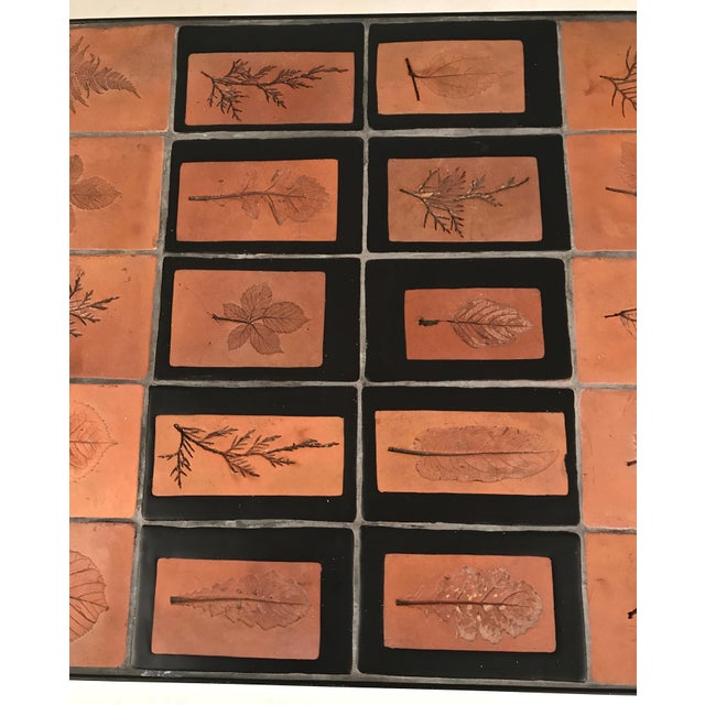 Roger Capron Botanical Tile Table France, circa 1960s For Sale In New York - Image 6 of 6