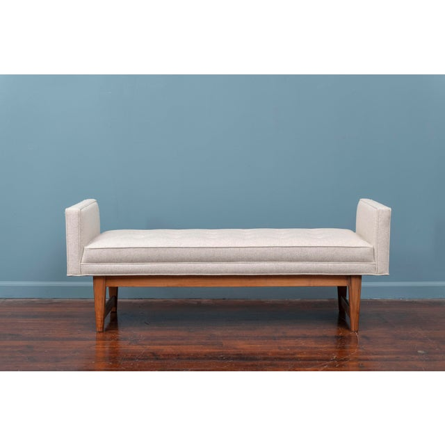 Gray Mid-Century Modern Upholstered Bench by Selig For Sale - Image 8 of 8