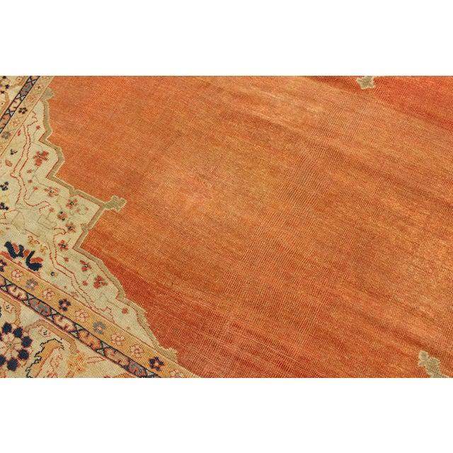 Pumpkin Keivan Woven Arts, E-1207, Late 19th Century Antique Ziegler Sultanabad Rug - 10′2″ × 14′5″ For Sale - Image 8 of 10