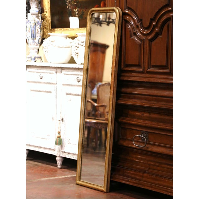 Wood Mid-19th Century French Louis Philippe Giltwood Mirror With Mercury Glass For Sale - Image 7 of 11