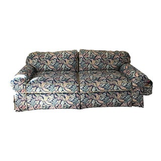 Modern Ethan Allen Skirted Sofa For Sale