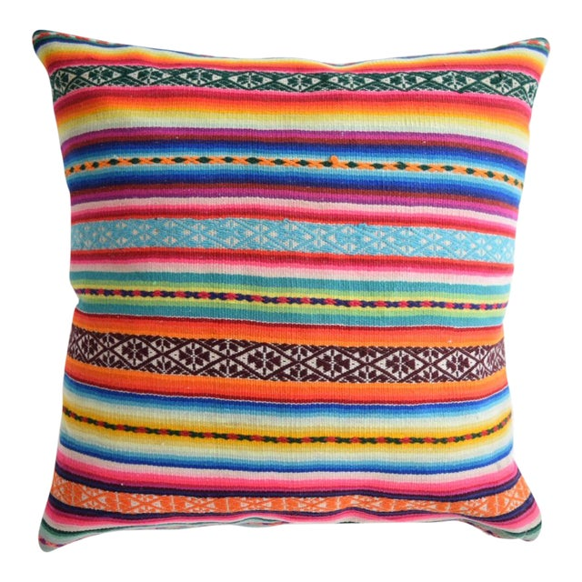 Boho Striped Manta Pillow - Image 1 of 6