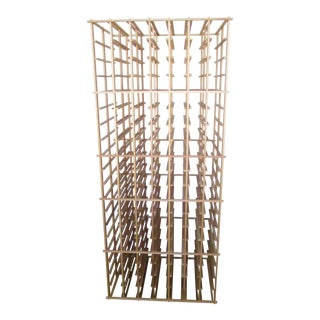 Modern Wood Wine Rack - Holds Over 300 Bottles For Sale