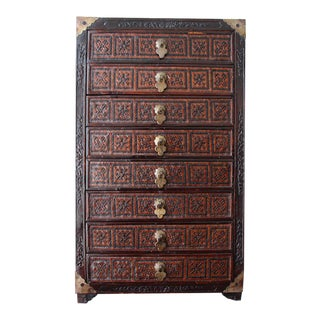 Chinese 8 Drawer Wood Jewelry Box For Sale