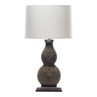 Lawrence & Scott Marilyn Verdigris Bronze Table Lamp For Sale