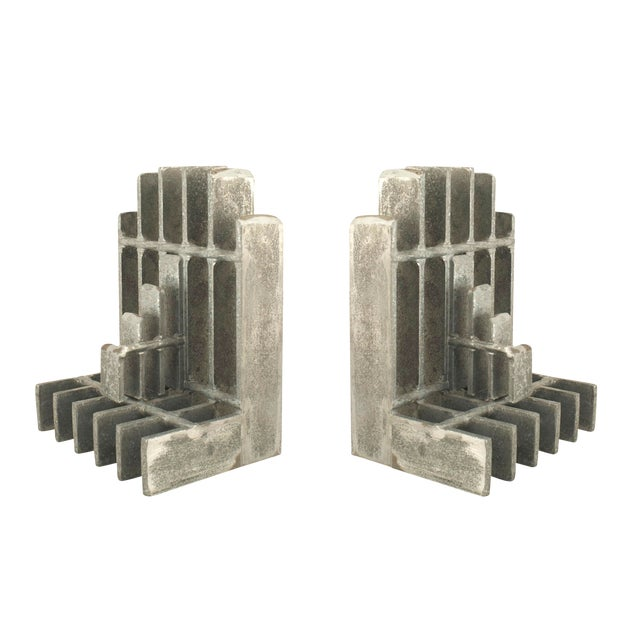 Pair of Mid-Century American Brutalist Style Bookends For Sale
