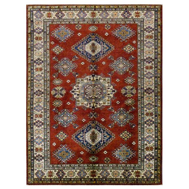 Afghan Super Kazak Rug - 5′8″ × 8′ For Sale - Image 4 of 4