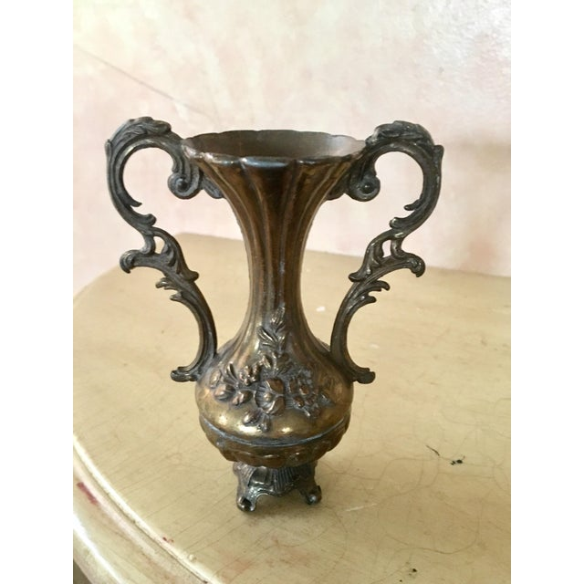 Italian Engraved Metal Bud Vase Chairish