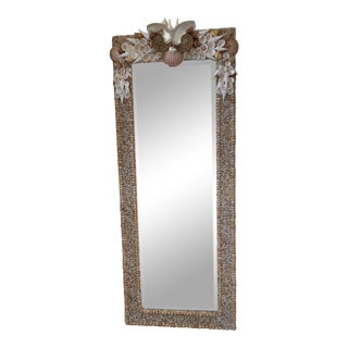 Custom Shell Floor Mirror For Sale