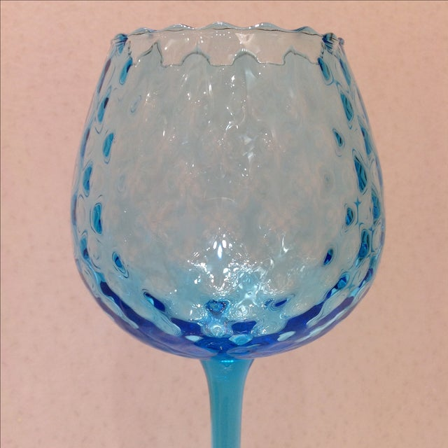 Blue Optic Glass Murano Vases - A Pair - Image 8 of 11