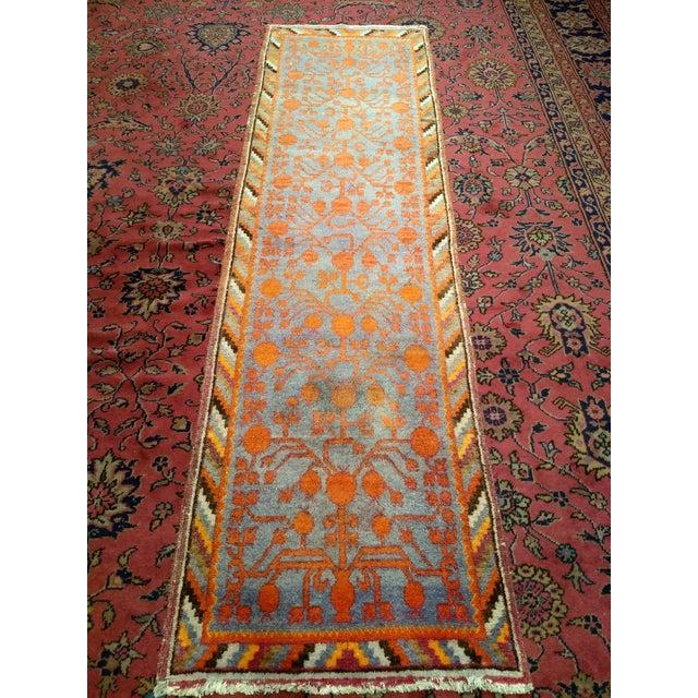 19th Century Art Nouveau Khotan Rug Runner - 2′2″ × 8′1″ For Sale - Image 12 of 12