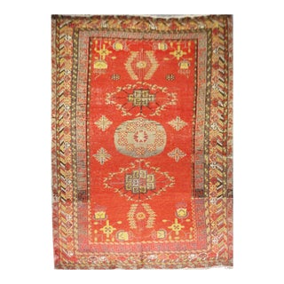 Vintage Hand Knotted Khotan Circa 1900 - 4′9″ × 9′ For Sale