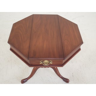 1980s Queen Anne Henkel Harris Octogonal Cherry Jefferson Table Preview