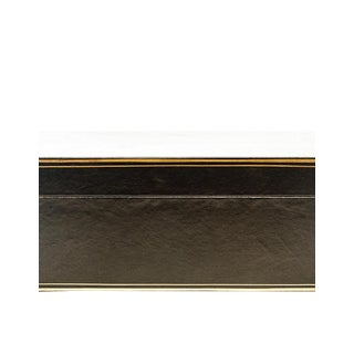 "Lawrence & Scott Black Regalia Leather Box (16.5"") For Sale"