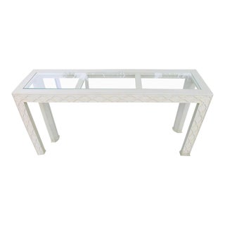 Henredon Chinoiserie Fretwork Console Table For Sale
