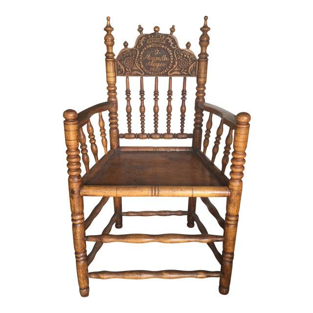 Pennsylvania Dutch Antique Carved Spool Chair, Circa 1855 - Pennsylvania Dutch Antique Carved Spool Chair, Circa 1855 Chairish