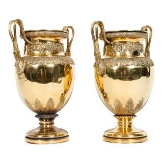 Old English Bronze Decorative Vases For Sale