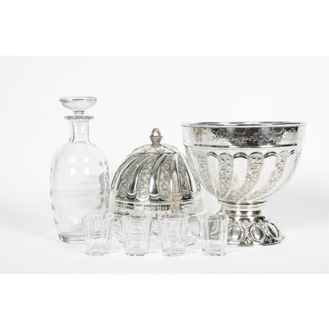 Sheffield Silver Plated Egg Shape Liquor Cave - 7 Pc. Set For Sale - Image 9 of 13