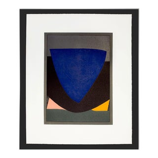 Victor Vasarely Original Lithograph Limited Edition W/ Custom Frame For Sale