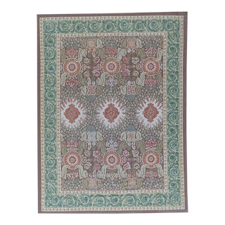 """Pasargad Aubusson Hand Woven Wool Rug - 9'11"""" X 14' 0"""""""