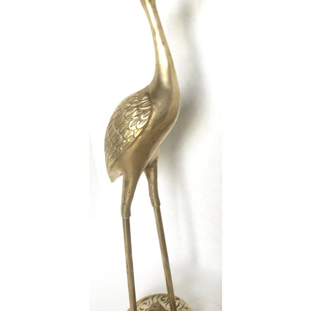 Hollywood Regency Brass Cranes - A Pair - Image 5 of 5