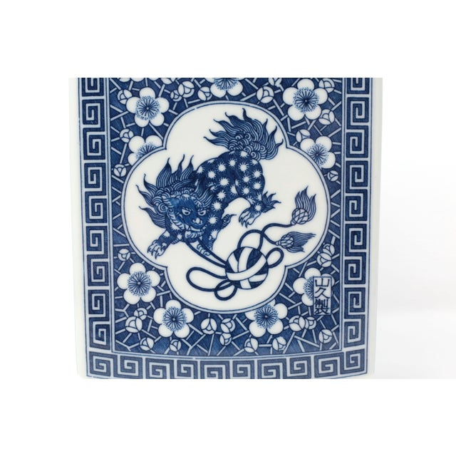 Japanese Large Blue and White Planter Vessel For Sale In Tampa - Image 6 of 11