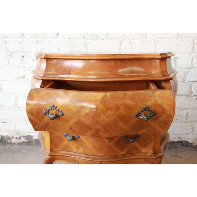 Inlaid Italian Bombay Chest Nightstands - a Pair For Sale - Image 9 of 12
